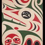 Mother Wolf - Harvest Moon, Maynard Johnny Jr., Acrylic on birch, 2013, 101.6 cm x 76.2 cm x 5.08 cm