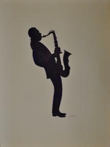 Untitled; (man playing saxophone), Eric Metcalfe, 1991