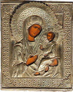 Icon of Virgin Hodegtria, 18th century