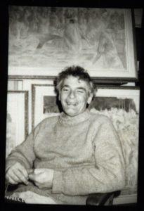 Glenn Howarth in his studio, date unknown, Glenn Howarth Fonds.