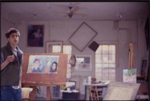 Eric Volet, student, in Howarth's Studio c.1986.