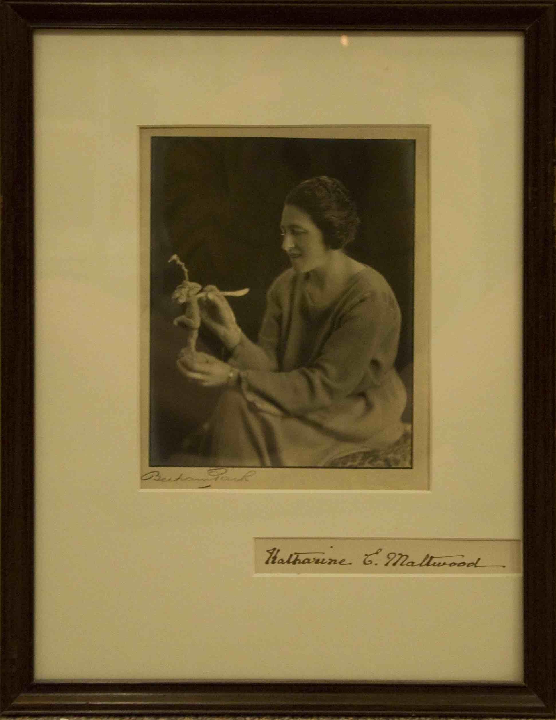 """Portrait of Katharine Maltwood"" 1921, Bertram Park, 20.20 x 15.50, photograph."