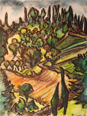 Dr. Margaret Travis, Untitled, scene of countryside