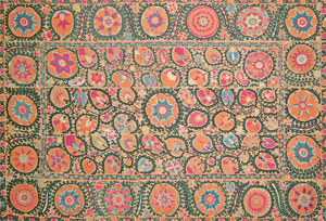 Turcoman embroidered textile, Iran, 1930s.
