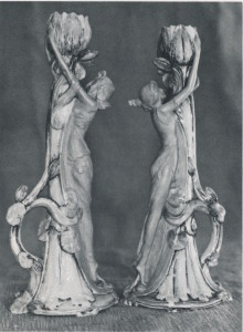 972.13.1a/b Two Candlesticks F.W. Vienna Austria