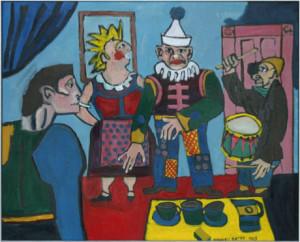 Image: Maxwell Bates Circus People, 1969
