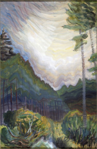 Chill Day in June, Emily Carr, oil on paper, 1938-1939