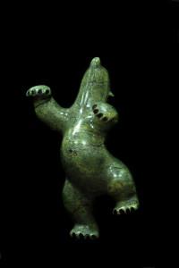 Dancing Bear, Qavayanu Ashoona, Cape Dorest, soapstone, 1960s